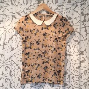 Unique floral top from Indonesian designer